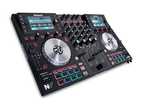Numark 4-Deck DJ Controller Frontansicht